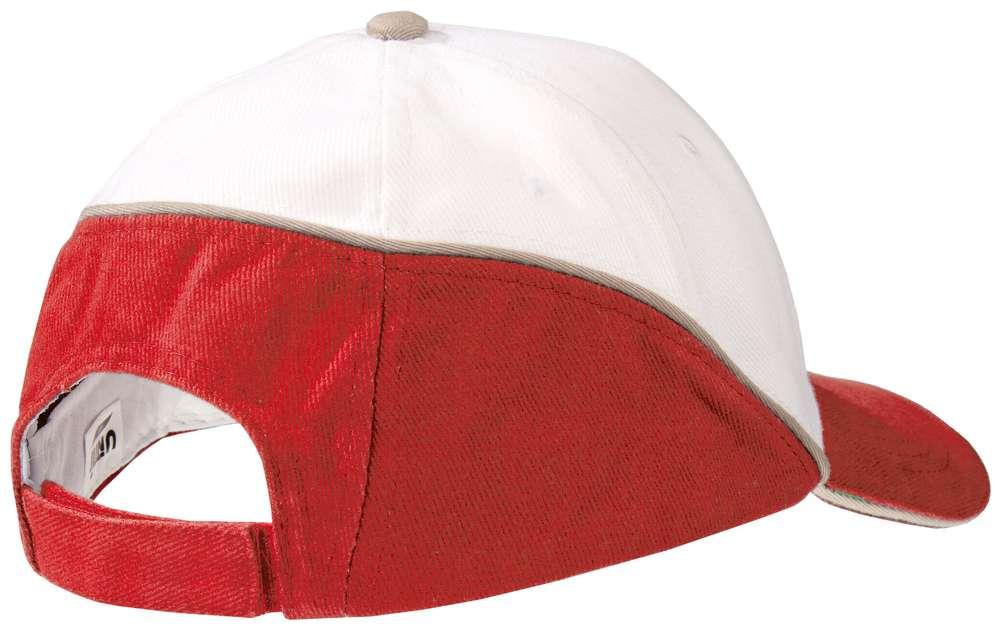 Бейсболка Unit Art, белая с красным