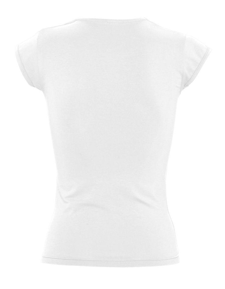 Футболка женская с оригинальным V-обр. вырезом MINT 170, белая
