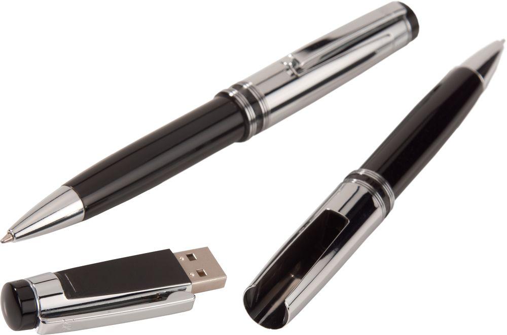 Флешка Respect Pen с шариковой ручкой, 16 Гб