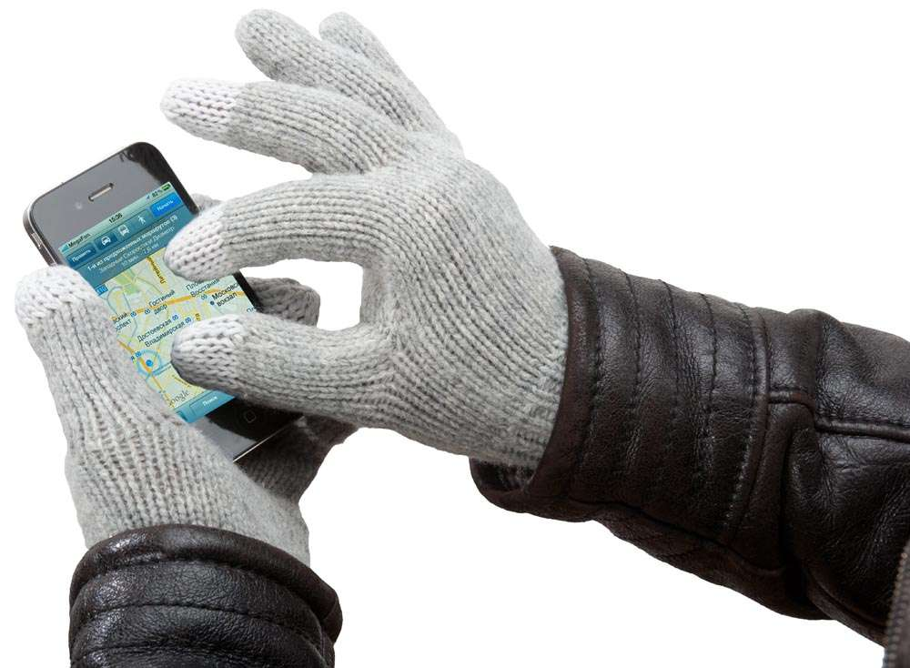 Перчатки для iPhone, серые