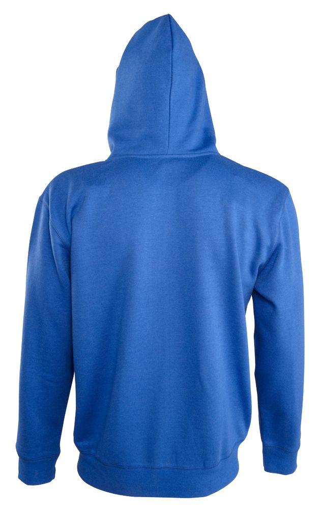 Толстовка мужская Soul men 290 с контрастным капюшоном, ярко-синяя