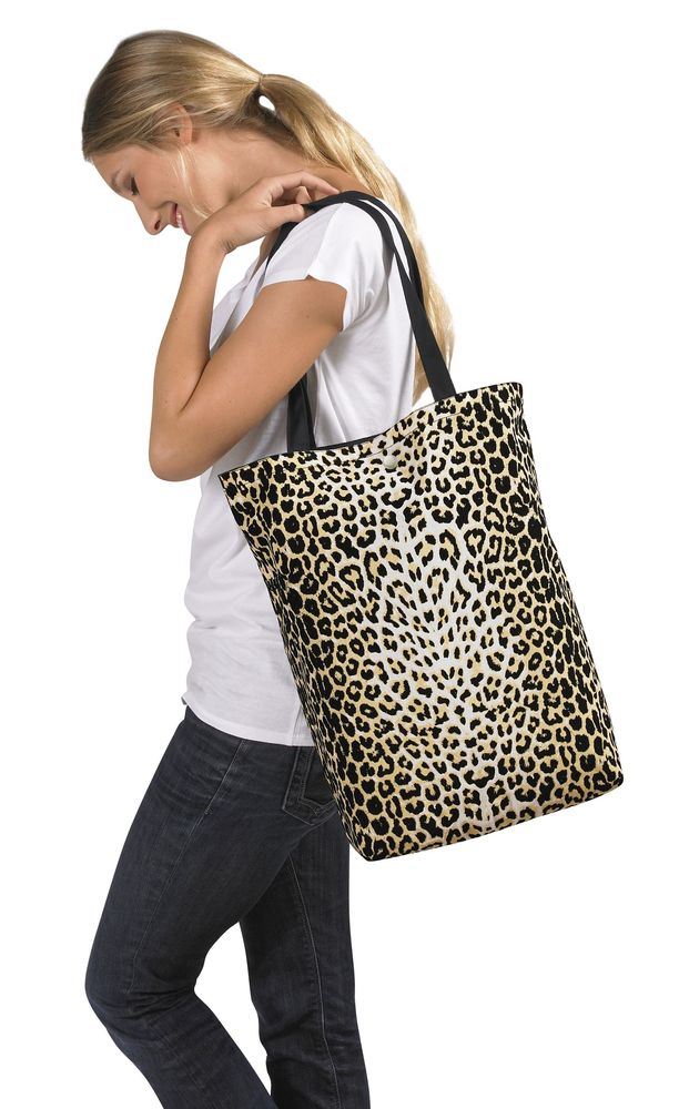 Сумка Reverso, черная/леопард