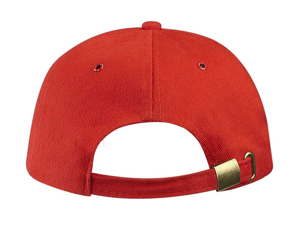 Бейсболка Unit Generic, красная с белым кантом