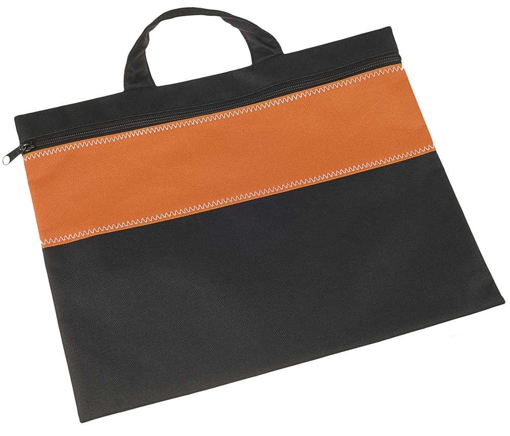 Конференц-сумка UNIT FOLDER, оранжевая с черным