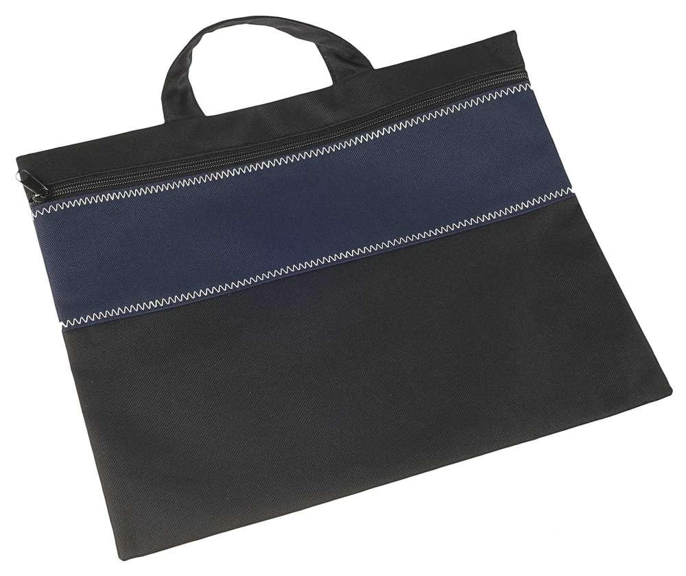 Конференц-сумка UNIT FOLDER, темно-синяя с черным