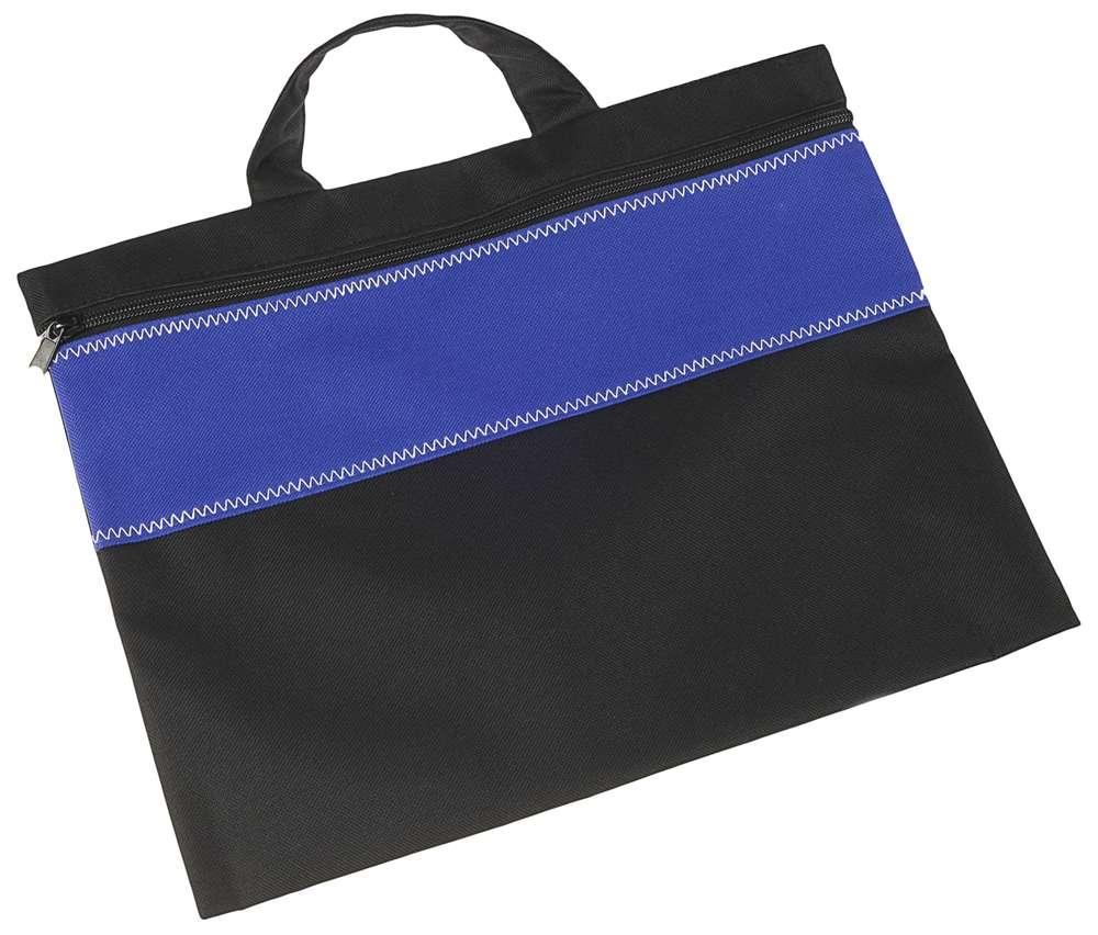 Конференц-сумка UNIT FOLDER, ярко-синяя с черным