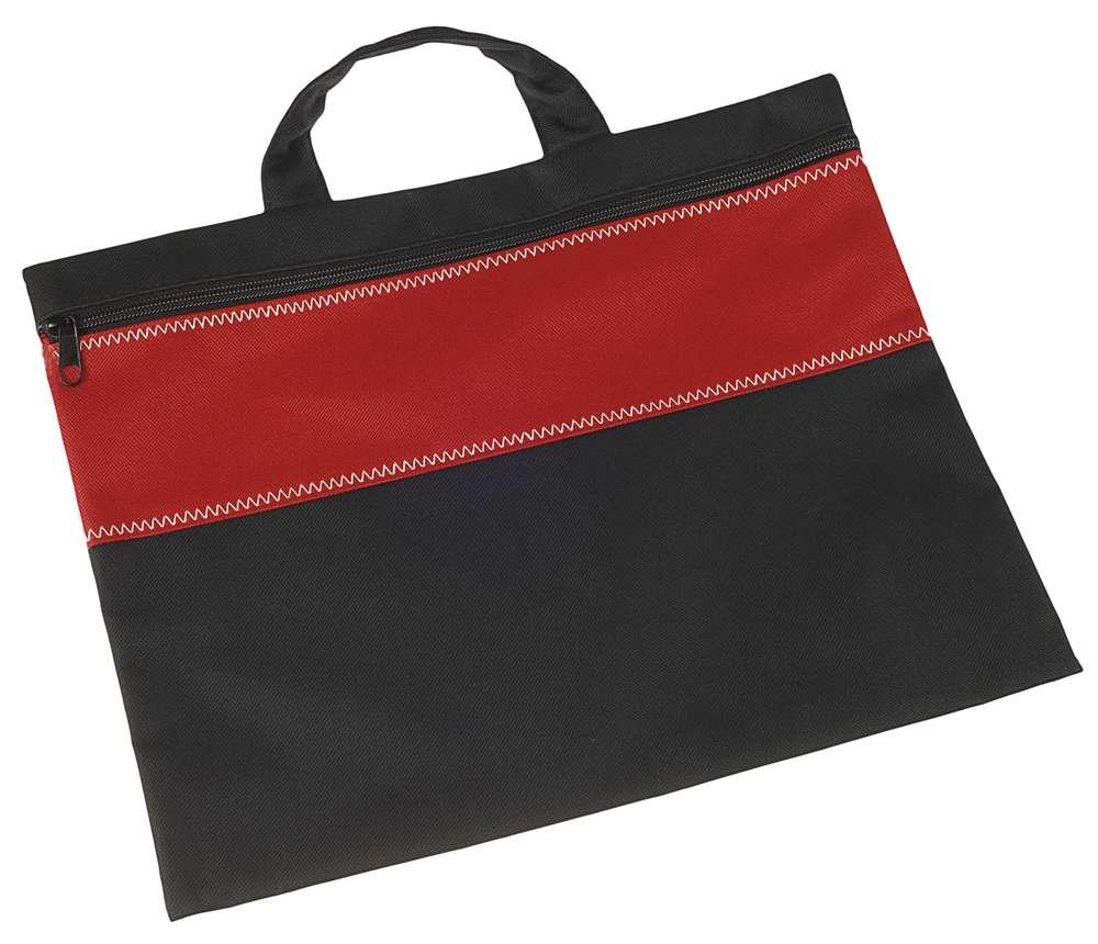 Конференц-сумка UNIT FOLDER, красная с черным