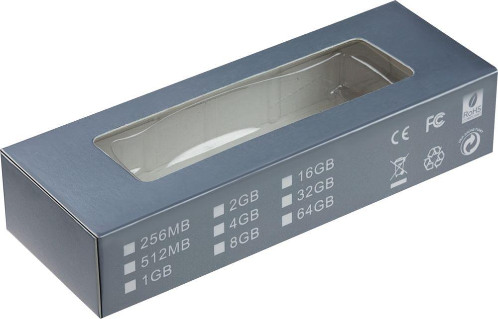 USB флеш карта Blade, черная с белым, 8 Гб