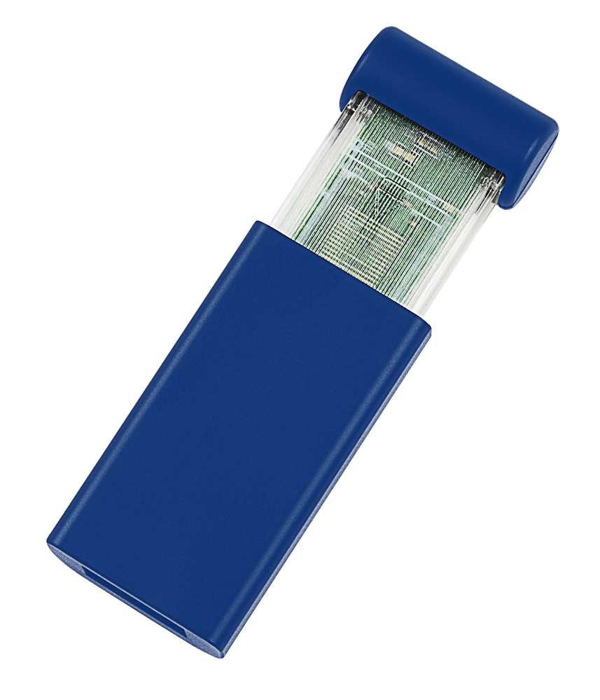 USB-флеш-карта Click, синяя, 8 Гб