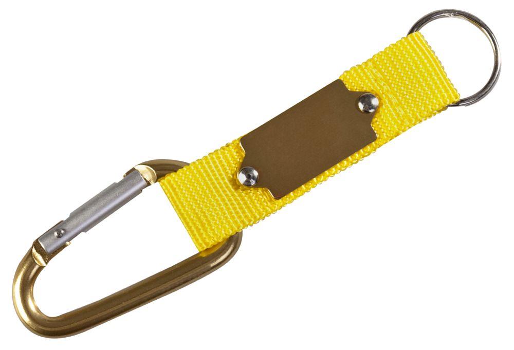 Брелок «Карабин», желтый с золотистым