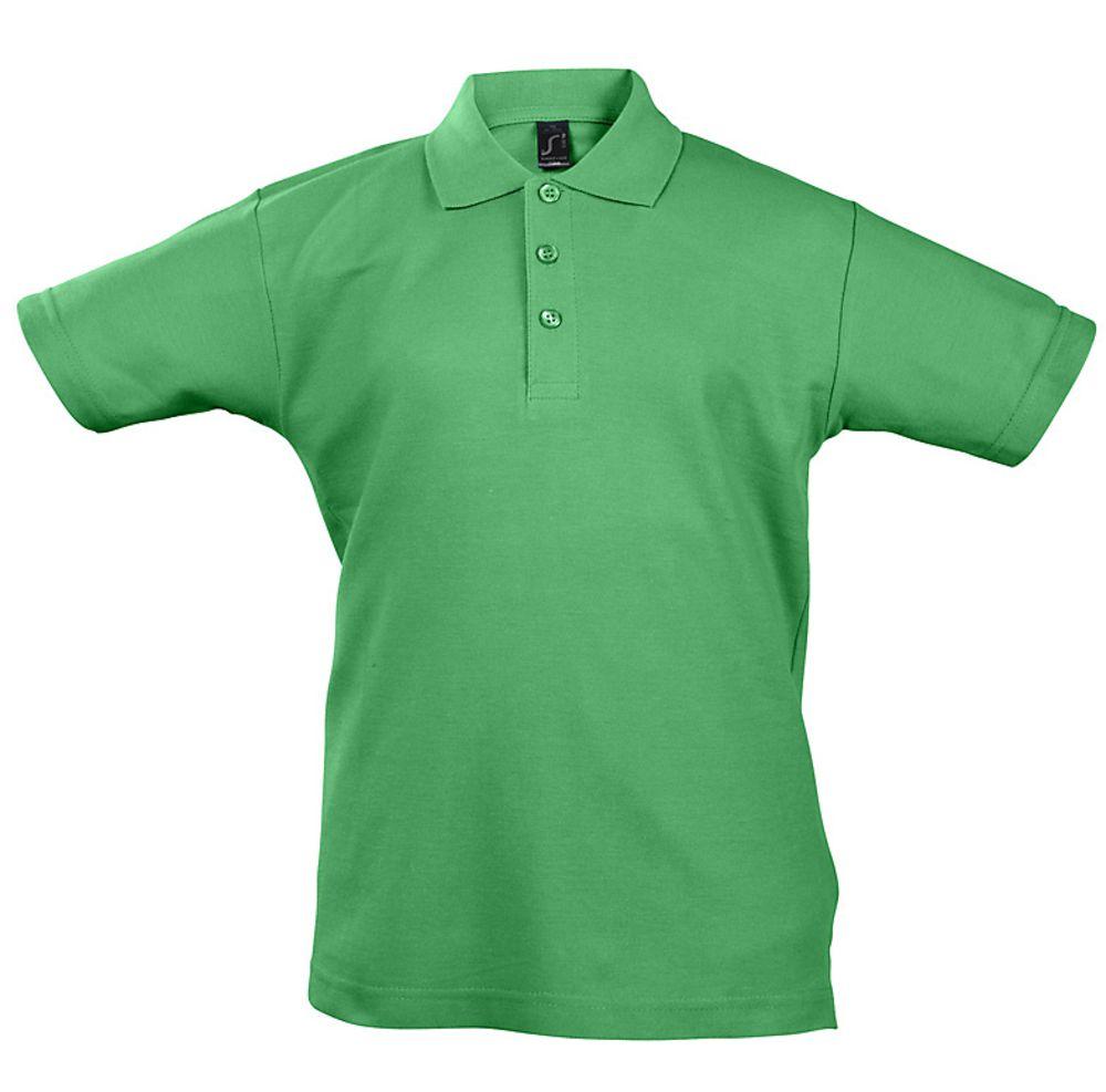 Рубашка поло детская Summer II Kids 170, ярко-зеленая