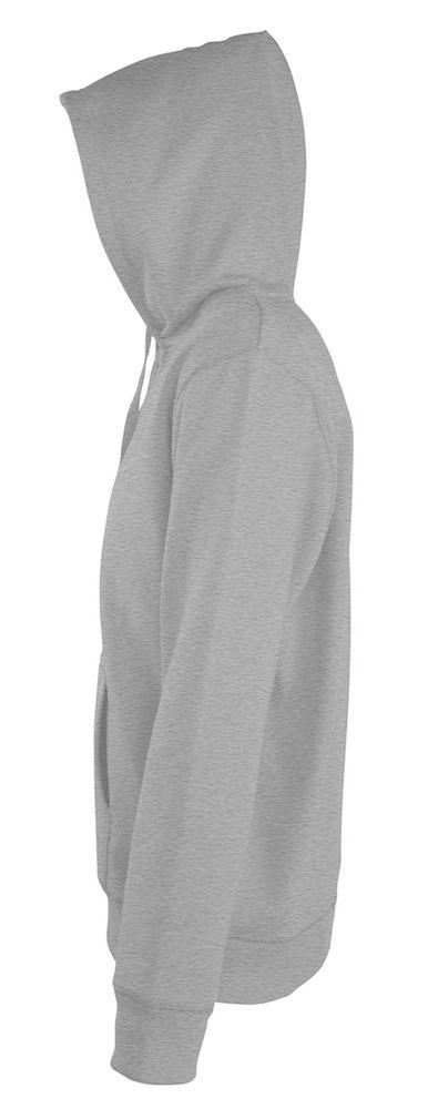 Толстовка мужская на молнии с капюшоном Seven Men 290, серый меланж