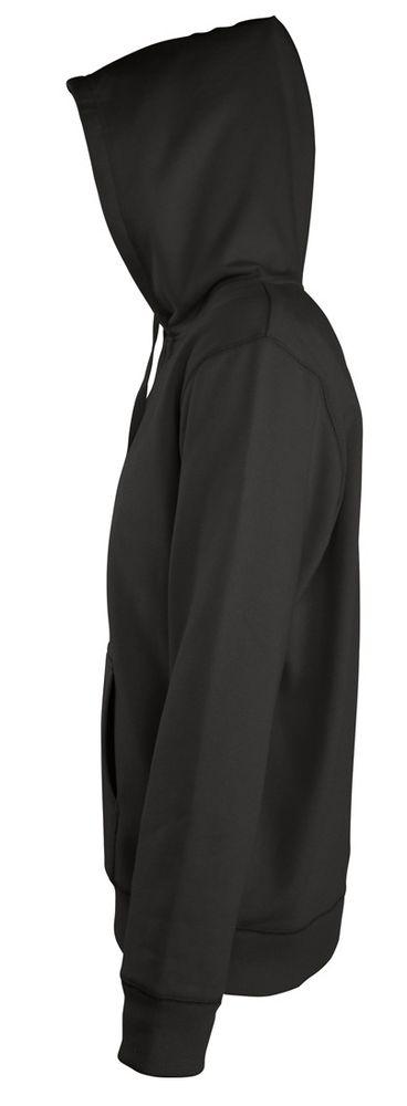 Толстовка мужская на молнии с капюшоном Seven Men 290, черная