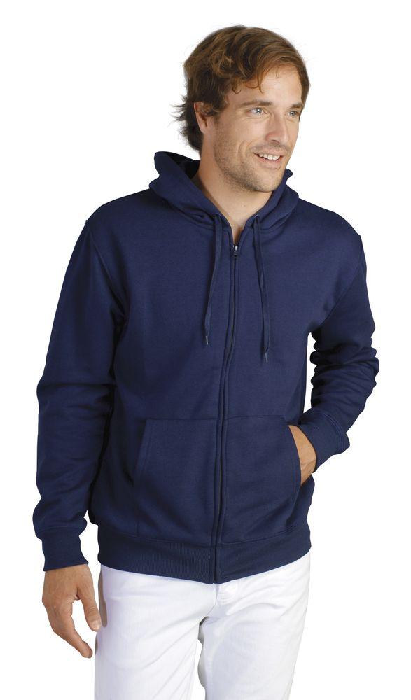 Толстовка мужская на молнии с капюшоном Seven Men 290, темно-синяя