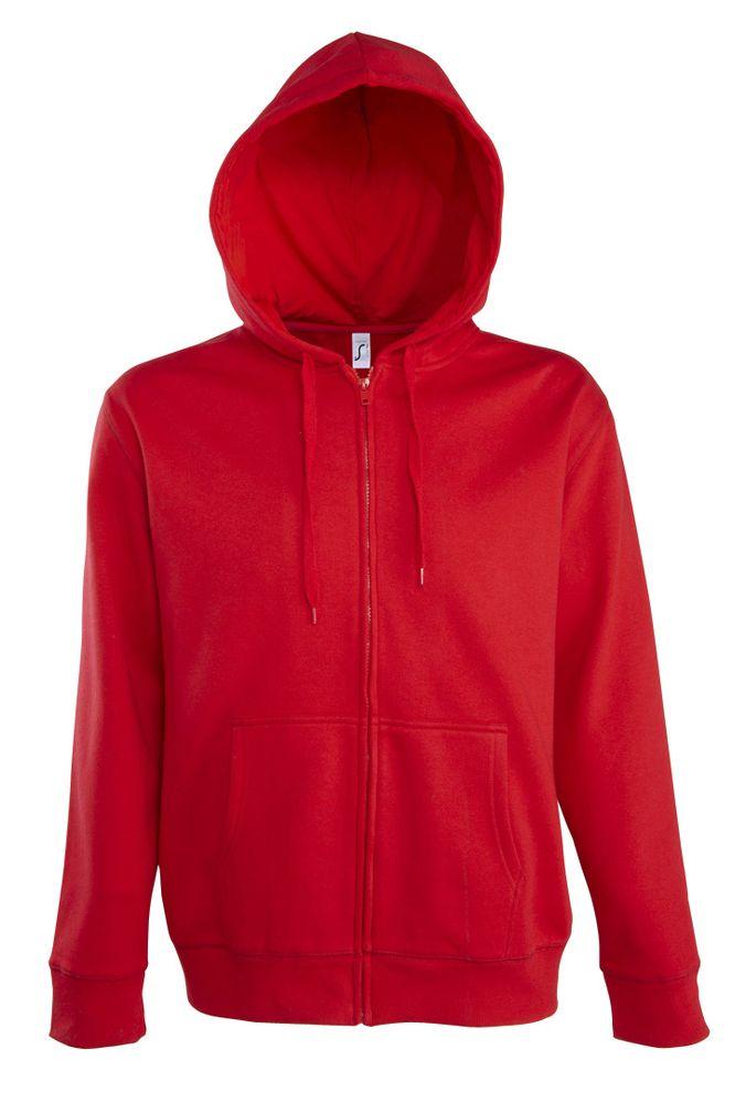 Толстовка мужская на молнии с капюшоном Seven Men 290, красная