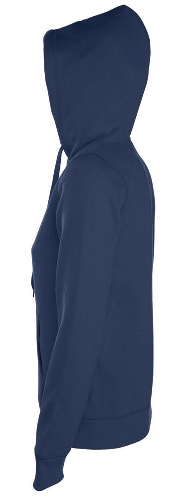 Толстовка женская на молнии с капюшоном Seven Women 290, темно-синяя