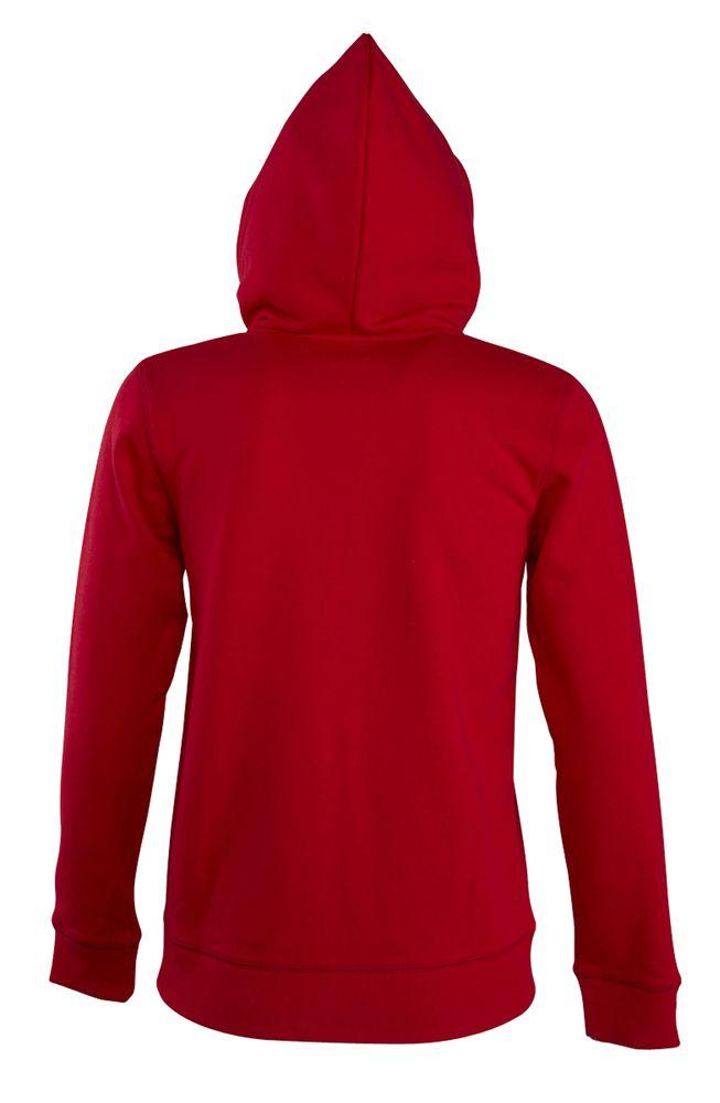 Толстовка женская на молнии с капюшоном Seven Women 290, красная
