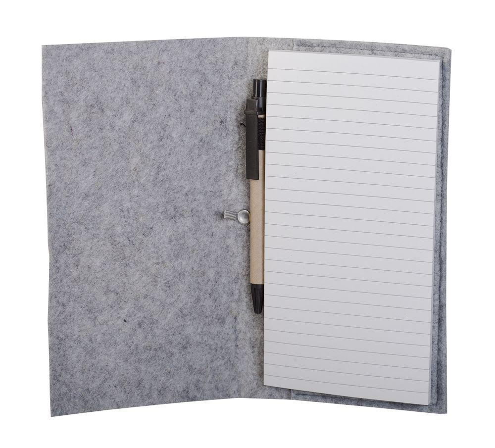 Блокнот Felt с ручкой, серый