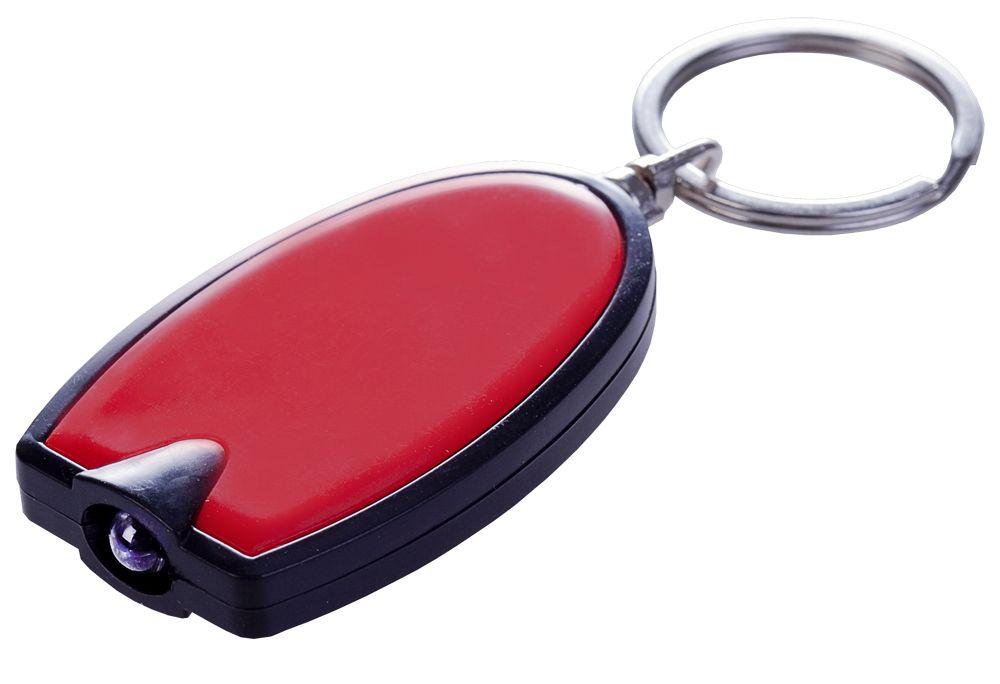 Брелок с LED-фонариком Vivid, красный