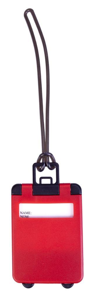 Бирка для багажа Trolley, красная