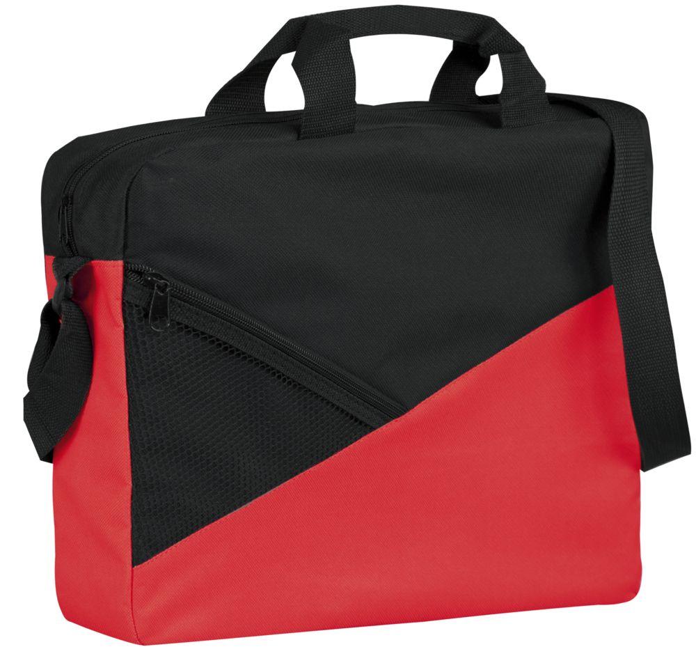 Конференц-сумка Slice, черно-красная