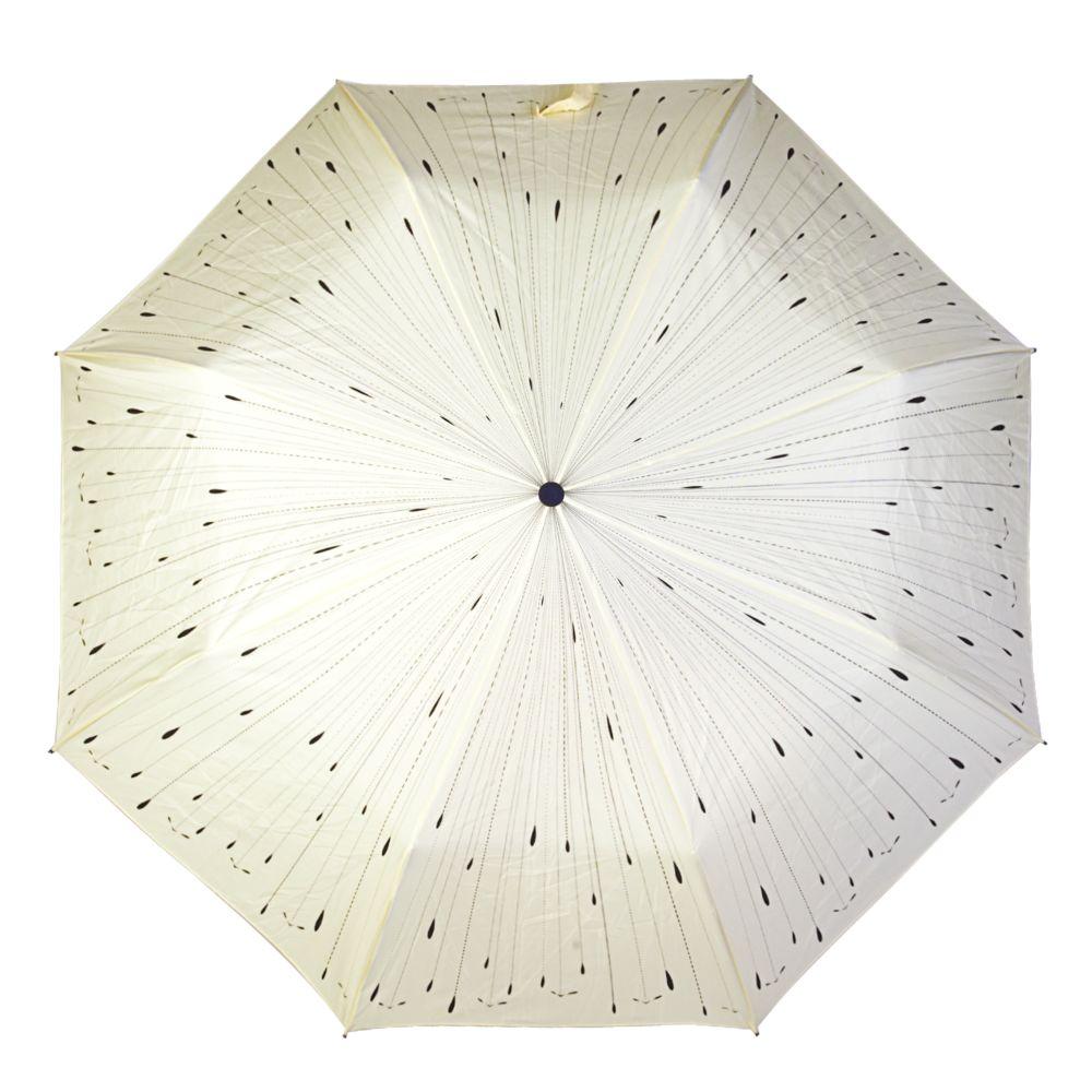 Зонт «Капли», бежевый