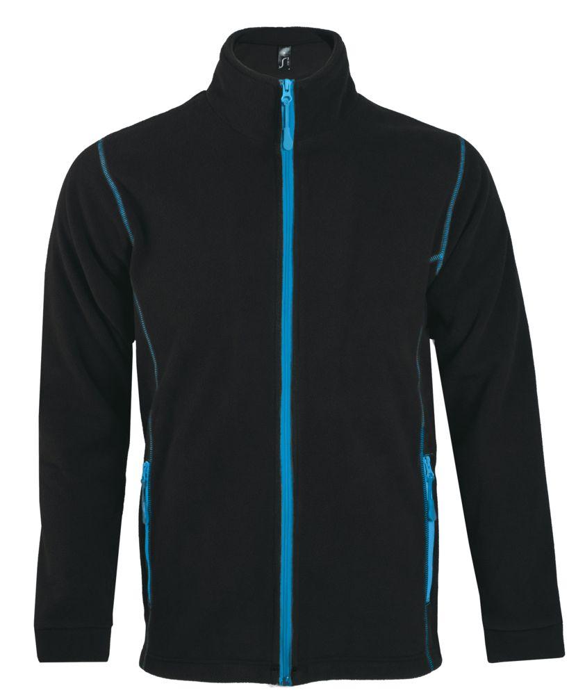 Куртка мужская NOVA MEN 200, черная с ярко-голубым