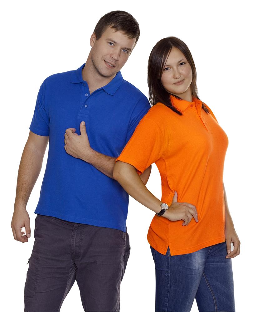 Рубашка поло Unit Virma, оранжевая