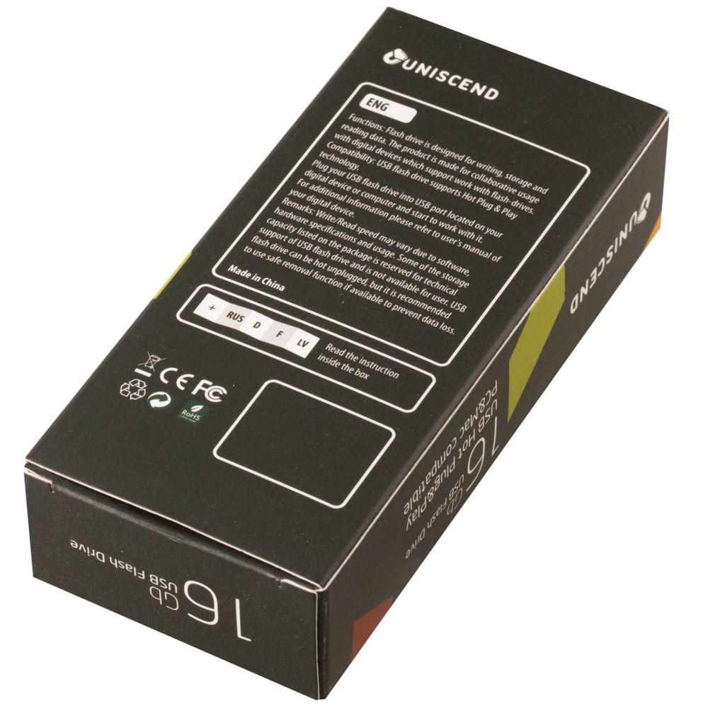 Флешка Uniscend Doubles, серебристая 16 Гб