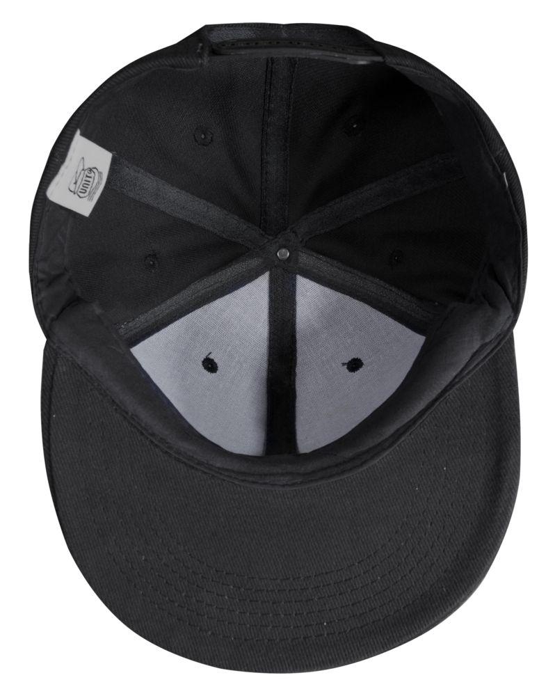 Бейсболка Unit Snapback с плоским козырьком, черная