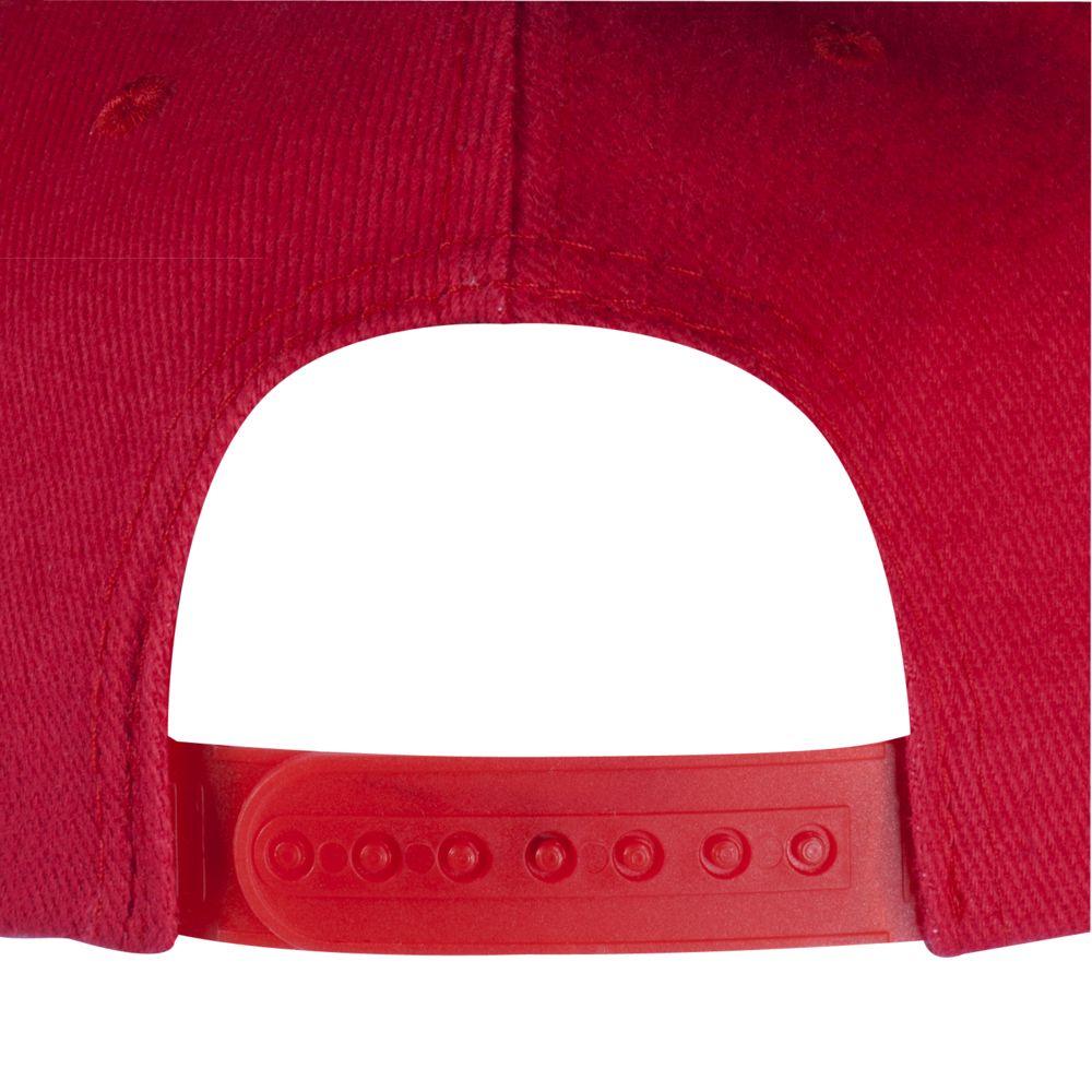 Бейсболка Unit Snapback с плоским козырьком, красная