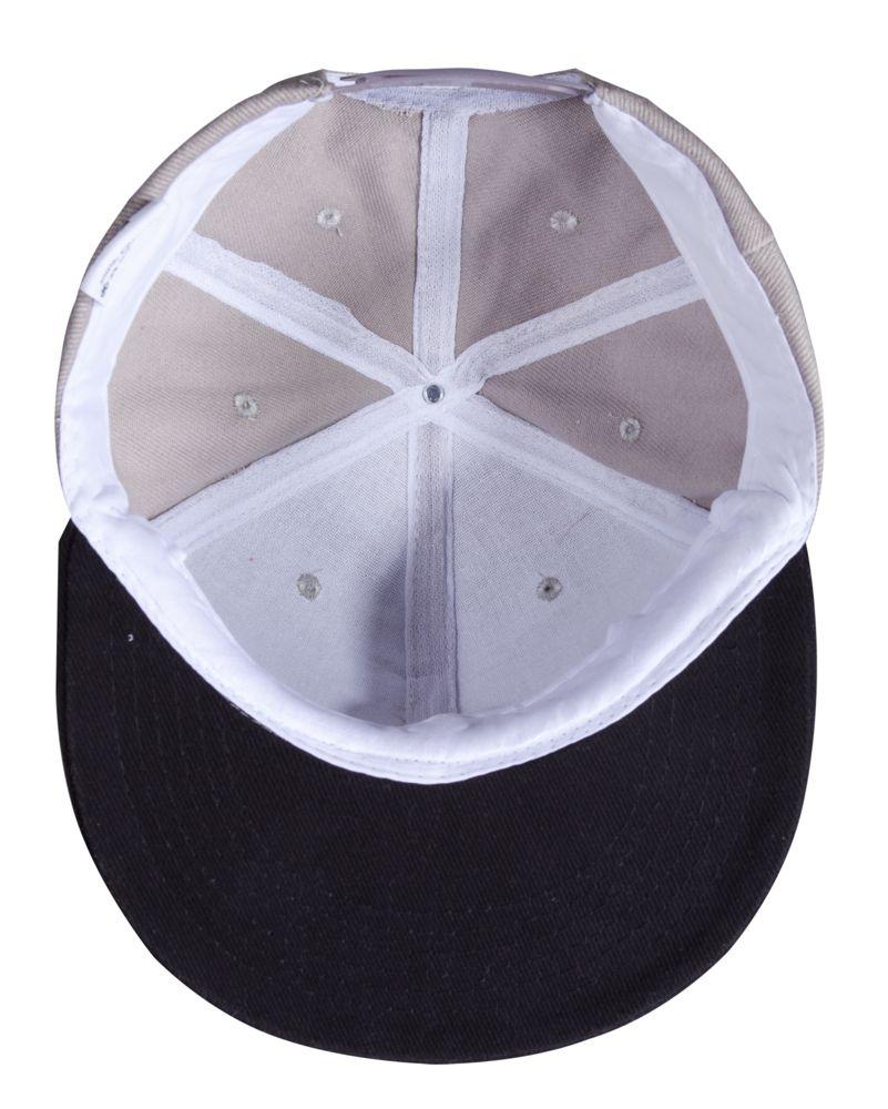 Бейсболка Unit Heat с плоским козырьком, двухцветная, серая с черным