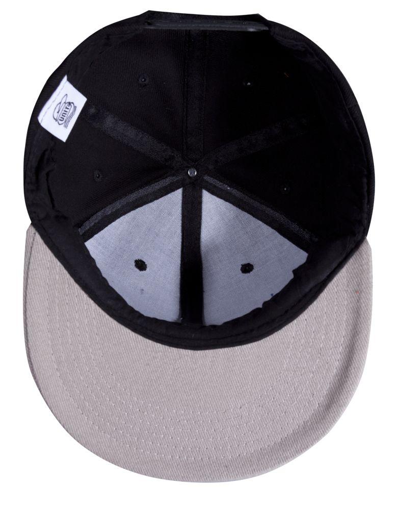 Бейсболка Unit Heat с плоским козырьком, двухцветная, черная с серым