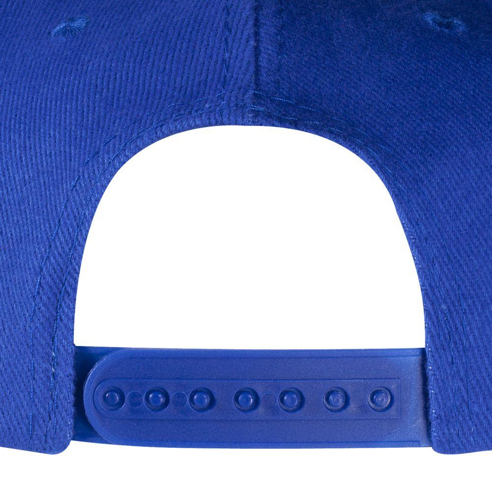 Бейсболка Unit Heat с плоским козырьком, двухцветная, ярко-синяя с черным