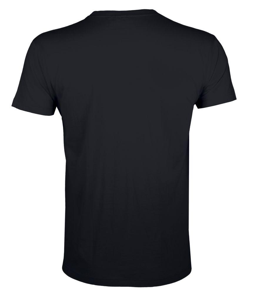 Футболка мужская приталенная REGENT FIT 150, черная
