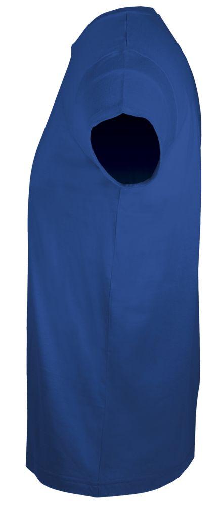 Футболка мужская приталенная REGENT FIT 150, ярко-синяя