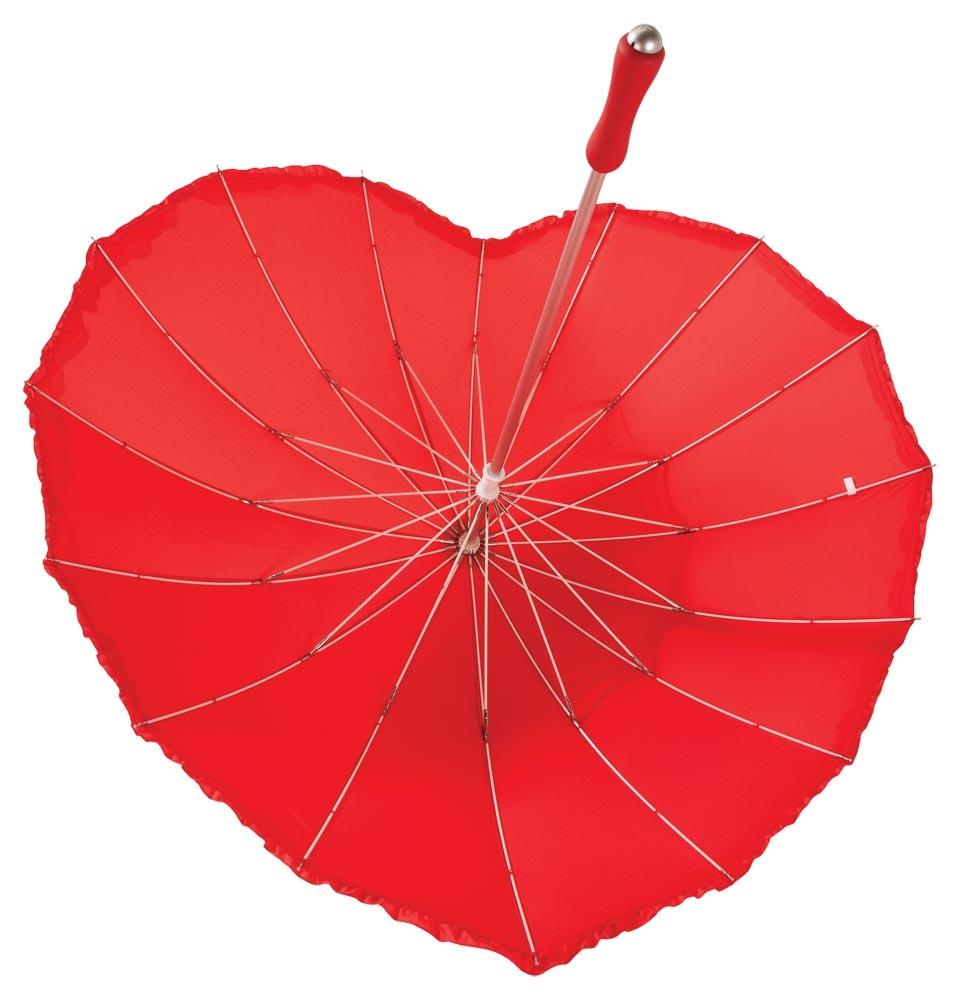 Зонт «Сердце», красный