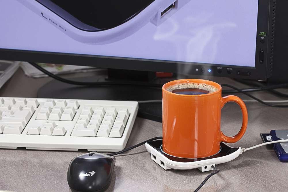 USB-хаб-подогреватель для чашки