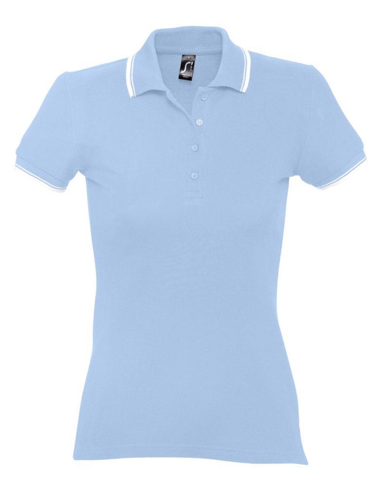 Рубашка поло женская Practice women 270 голубая с белым