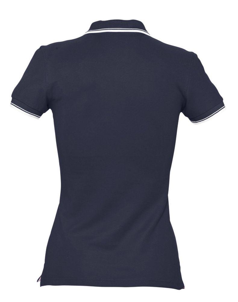 Рубашка поло женская Practice women 270 темно-синяя с белым