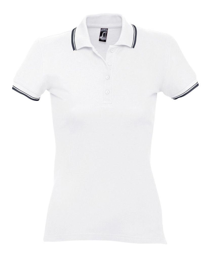 Рубашка поло женская Practice women 270 белая с темно-синим