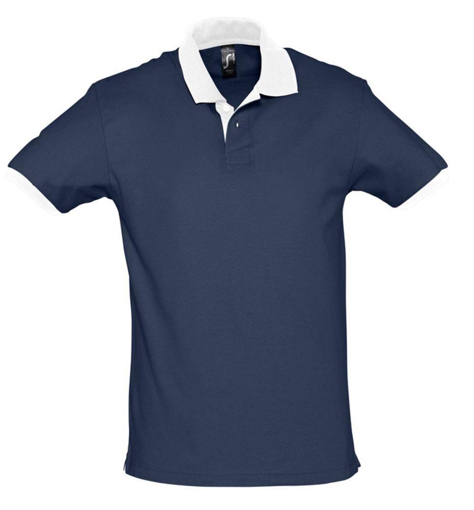 Рубашка поло Prince 190, темно-синяя с белым