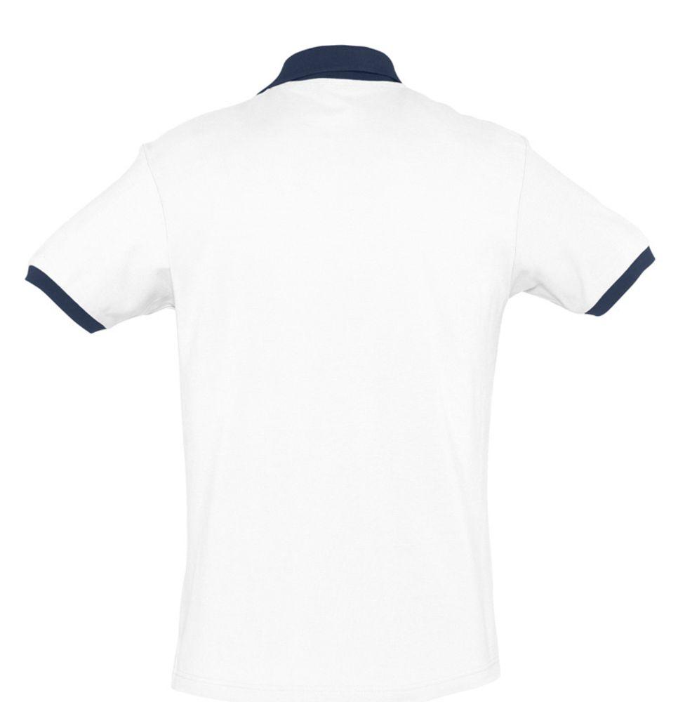 Рубашка поло Prince 190 белая с темно-синим