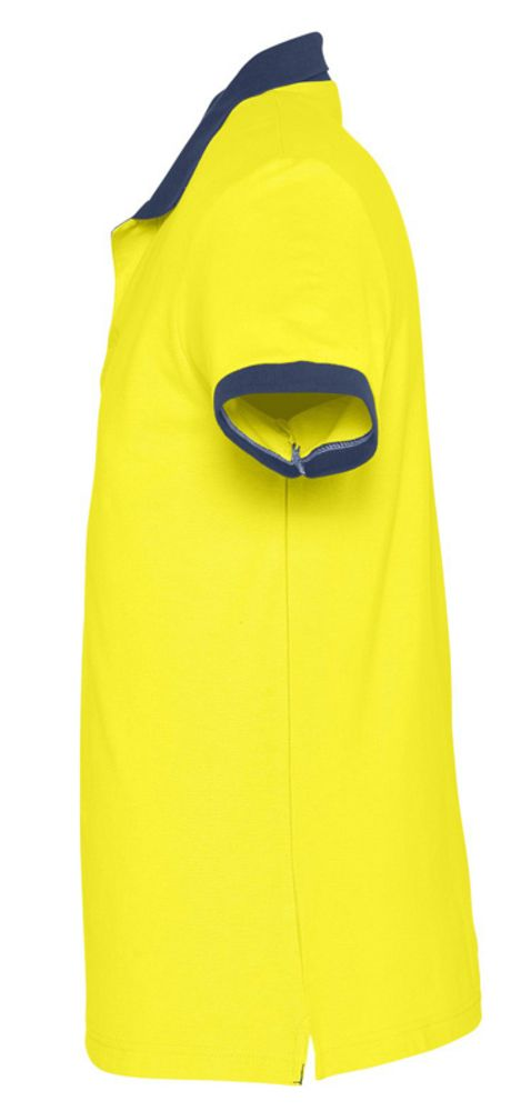 Рубашка поло Prince 190, лимонная с темно-синим