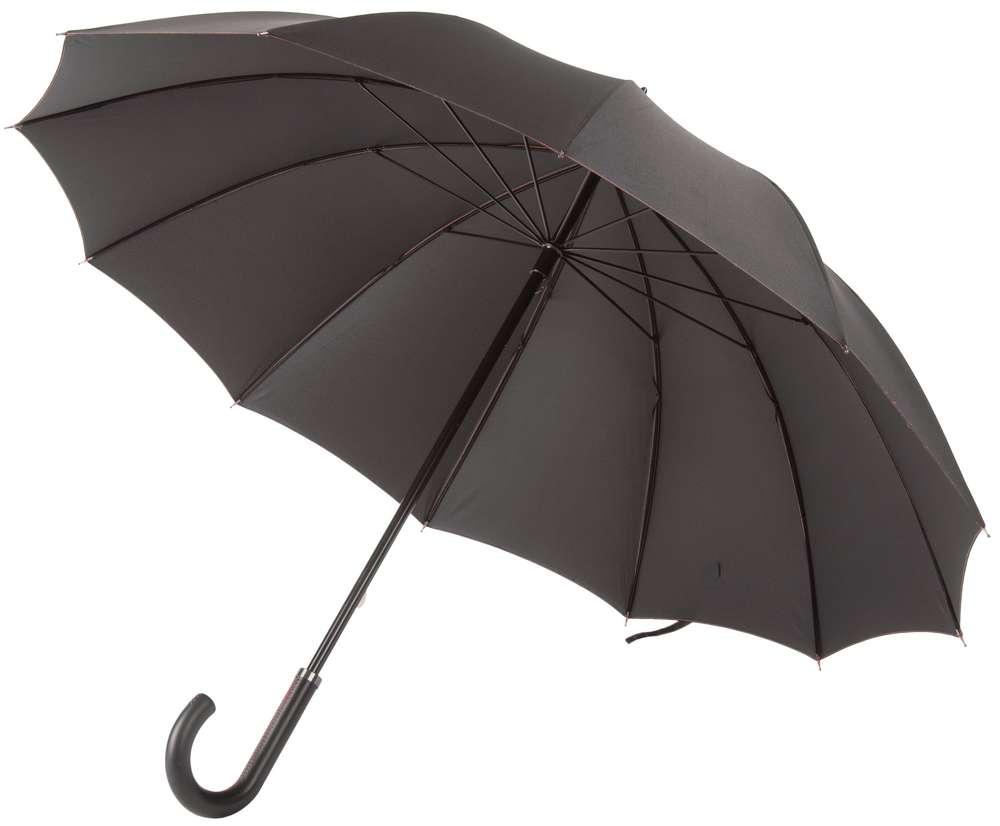 Зонт Lui, черный с красным