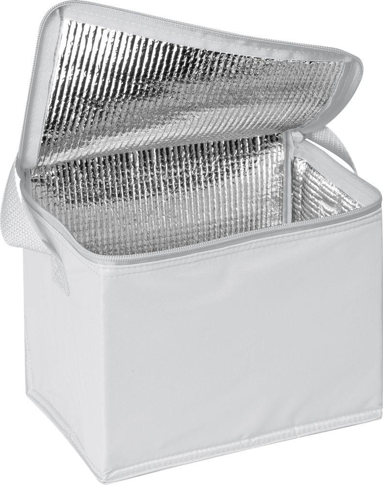 Сумка-холодильник, белая, на 6 банок по 0,5