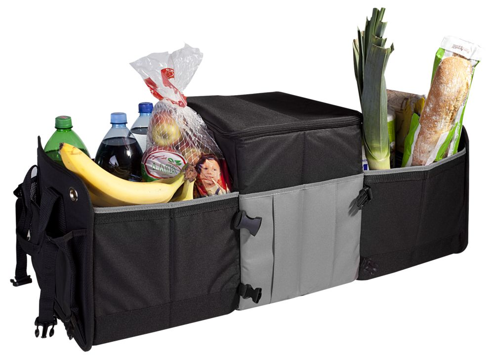 Складной органайзер в багажник Super cool pro, черный с серым