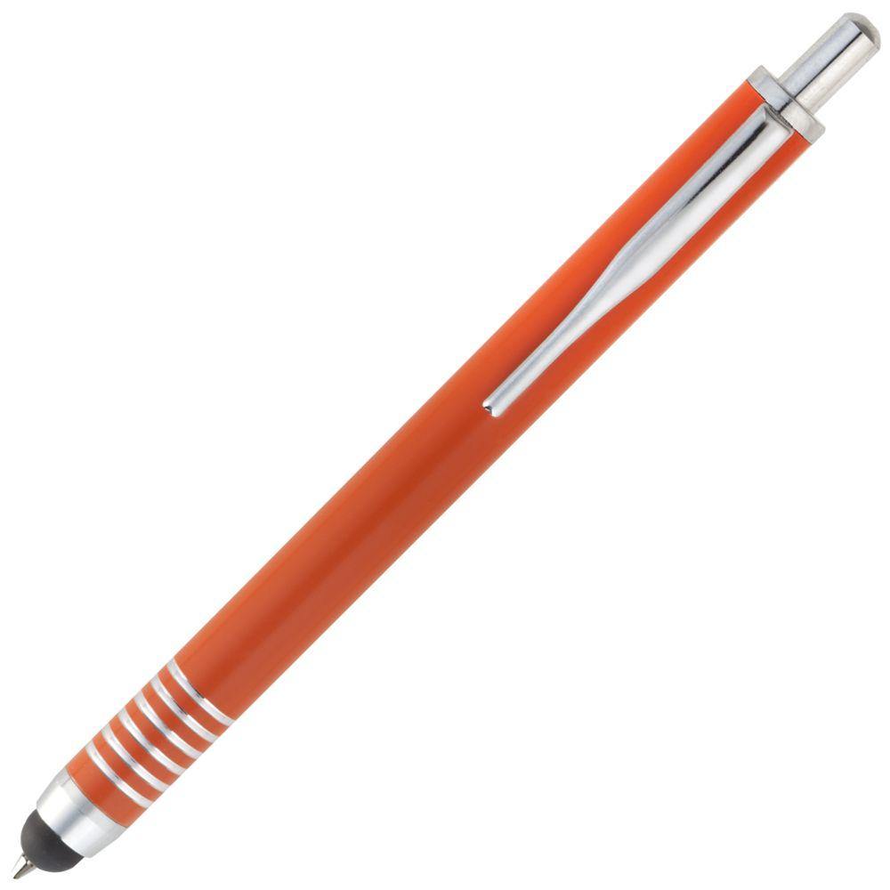 Ручка шариковая Finger со стилусом, оранжевая