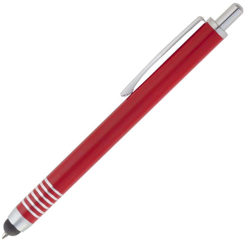 Ручка шариковая Finger со стилусом, красная