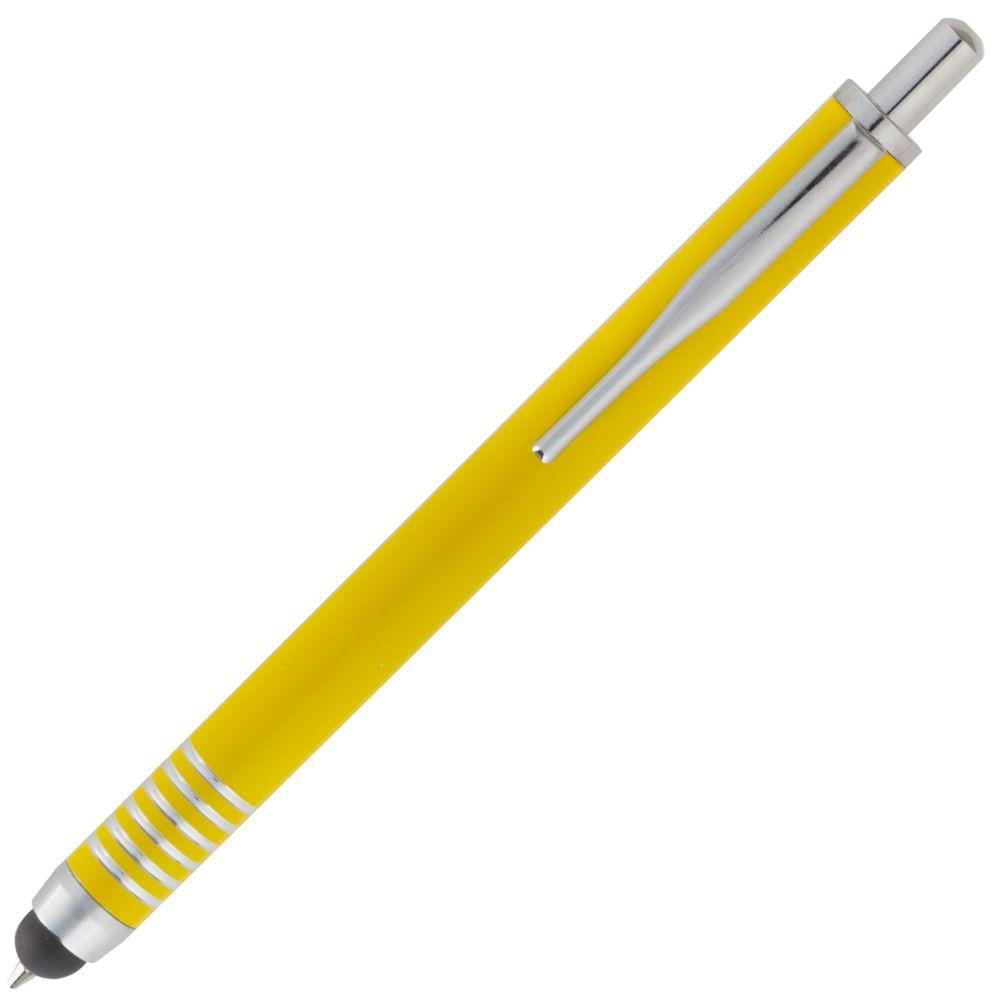 Ручка шариковая Finger со стилусом, желтая